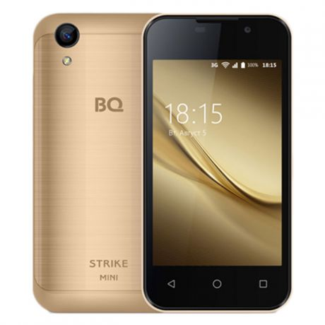 Смартфон BQ Mobile BQ-4072 Strike Mini Gold