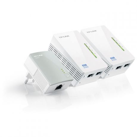 PowerLine TP-LINK TL-WPA4220T Kit 802.11n 300Мбит / с 2xLAN HomePlug AV500 3шт