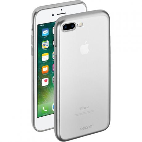 Чехол для iPhone 8 Plus, Deppa Gel Case Plus , серый