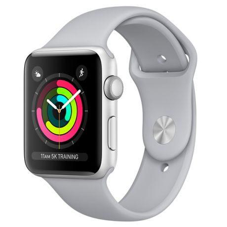 Смарт-часы Apple Watch S3 Sport 42mm Silver Al/Fog Band MQL02RU/A