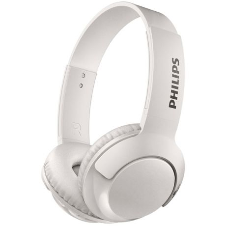 Наушники Bluetooth Philips Bass+ White (SHB3075WT/00)