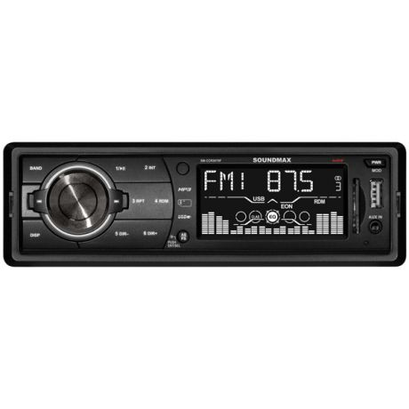 USB-Автомагнитола Soundmax SM-CCR3075F Black/White