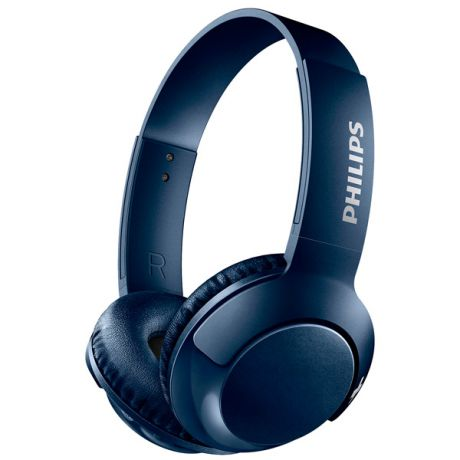 Наушники Bluetooth Philips Bass+ Blue (SHB3075BL/00)