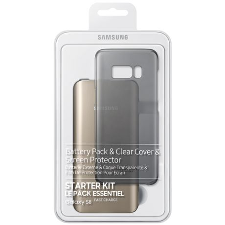 Внешний аккумулятор Samsung Starter Kit Galaxy S8 Gold/Black (EB-WG95ABBRGRU)