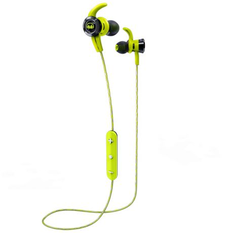 Спортивные наушники Bluetooth Monster iSport Victory Green (137086-00)