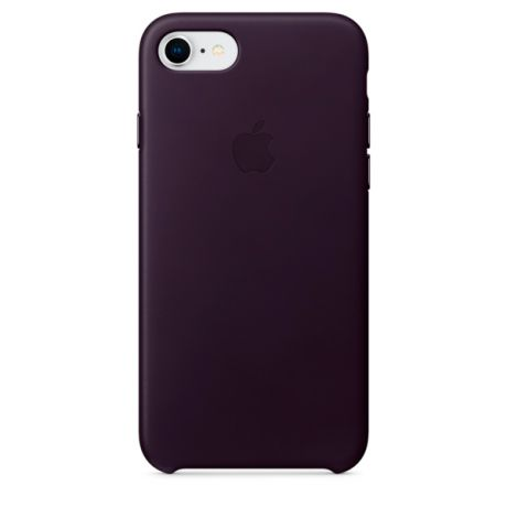 Чехол для iPhone Apple iPhone 8 / 7 Leather Dark Aubergine (MQHD2ZM/A)