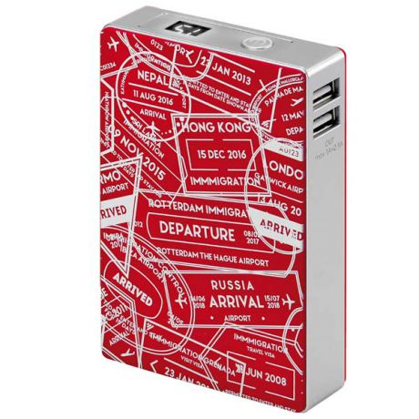 Внешний аккумулятор InterStep Travel 2USB/2A+1A Display 10400 mAh Red