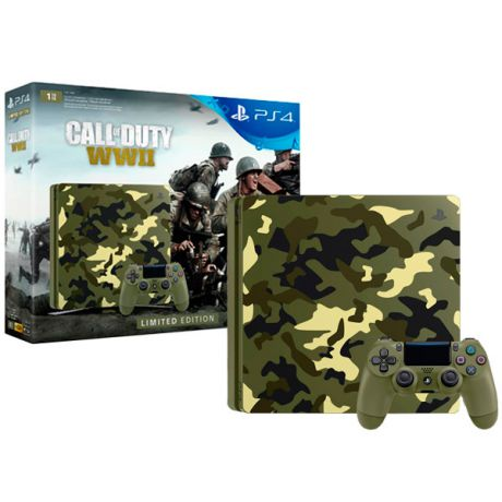 Игровая консоль PlayStation 4 1TB Call of Duty:WW II SE + гарнитура (CUH-2108B)