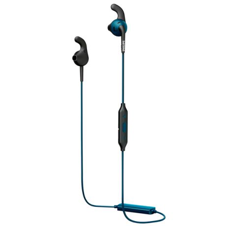 Спортивные наушники Bluetooth Philips ActionFit RunFree Blue (SHQ6500BL/00)