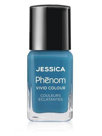 "Лаки для ногтей JESSICA Phenom Цветное покрытие Vivid Colour ""Fountain Bleu"" № 08, 15 мл"