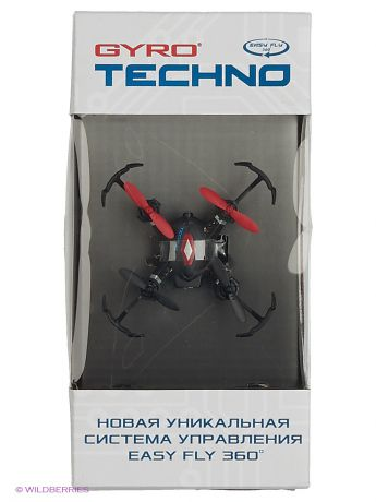 Коптеры 1Toy Квадрокоптер 1toy GYRO-Techno 2,4GHz 4 канала 4,5х4,5см, 6-осевой, real headless режим