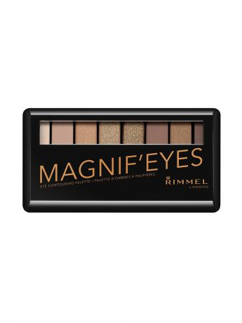 Тени Rimmel Палетка из 8 оттенков для век Magnifeyes Palette, тон 001 Keep Calm & Wear Gold