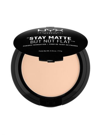 Пудры NYX PROFESSIONAL MAKEUP Тональная основа-пудра STAY MATTE BUT NOT FLAT POWDER FOUNDATION - LIGHT BEIGE 015