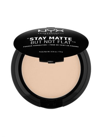 Пудры NYX PROFESSIONAL MAKEUP Тональная основа-пудра STAY MATTE BUT NOT FLAT POWDER FOUNDATION - NUDE 02
