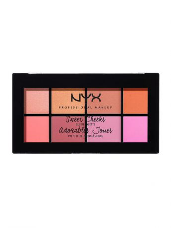 Румяна NYX PROFESSIONAL MAKEUP Палетка румян SWEET CHEEKS BLUSH PALETTE 01