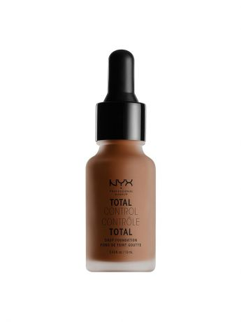 Тональные кремы NYX PROFESSIONAL MAKEUP Стойкая тональная основа TOTAL CONTROL DROP FOUNDATION - COCOA 21
