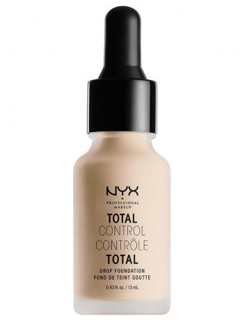 Тональные кремы NYX PROFESSIONAL MAKEUP Стойкая тональная основа TOTAL CONTROL DROP FOUNDATION - ALABASTER 02