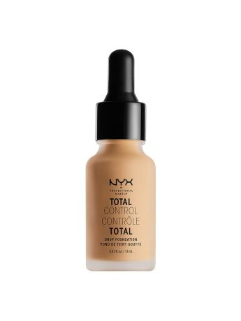 Тональные кремы NYX PROFESSIONAL MAKEUP Стойкая тональная основа TOTAL CONTROL DROP FOUNDATION - TRUE BEIGE 08