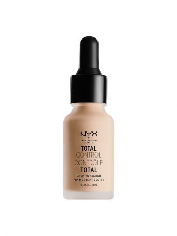 Тональные кремы NYX PROFESSIONAL MAKEUP Стойкая тональная основа. TOTAL CONTROL DROP FOUNDATION - LIGHT IVORY 04