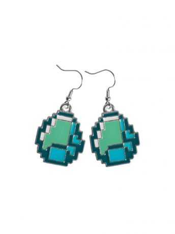 Серьги Minecraft Серьги Minecraft Diamond Earrings