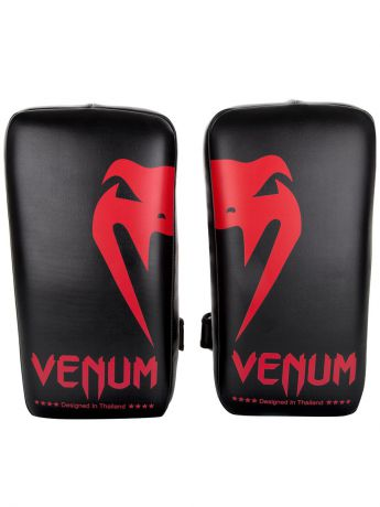 Лапы Venum Пэды Venum Giant Kick Pads Black/Red (пара)