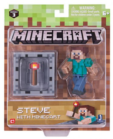 Фигурка Minecraft: Steve With Minecart – Series 3