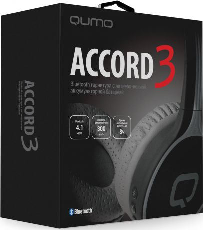 Bluetooth гарнитура Qumo Accord 3 (BT-0020) (Серые)