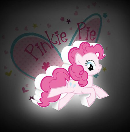 3D светильник My Little Pony. Pinky Pie
