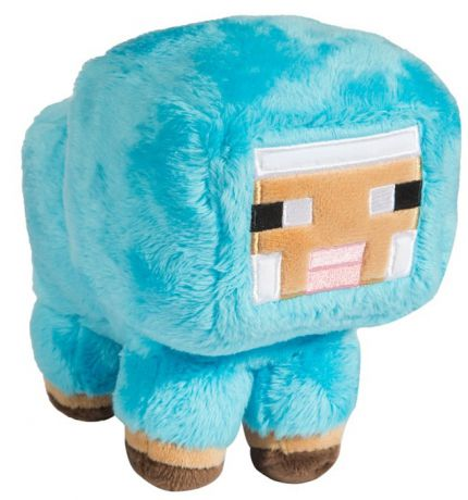 Мягкая игрушка Minecraft: Small Baby Sheep Blue (18 см)