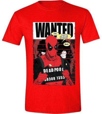 Футболка Deadpool: Wanted Poster (красная) (M)
