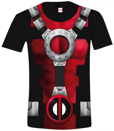 Футболка Deadpool: Costume (черная) (XL)