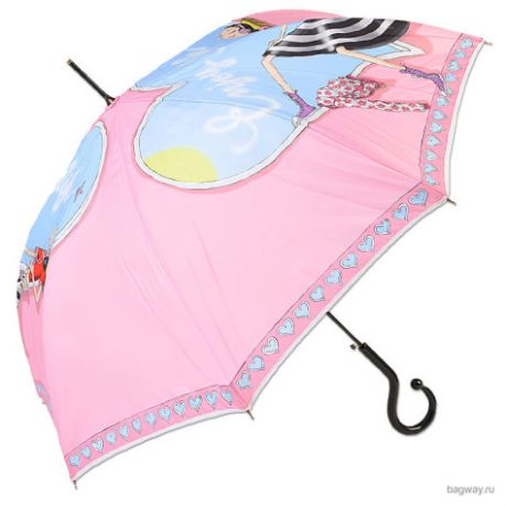 Зонт Moschino Umbrellas M 262 (M 262-61AUTON Olivia enjoy life long Pink)