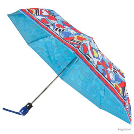 Зонт Moschino Umbrellas 7176 Cubic Hearts (M 7176-OCP Cubic Hearts Lightblue)