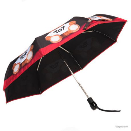 Зонт Moschino Umbrellas 8254 Teddy Photo (M 8254-OCС Teddy Photo Black/Red)