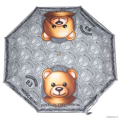 Зонт Moschino Umbrellas M 8330 Credit Card Bear (M 8330-OCH Credit Card Bear Silver)