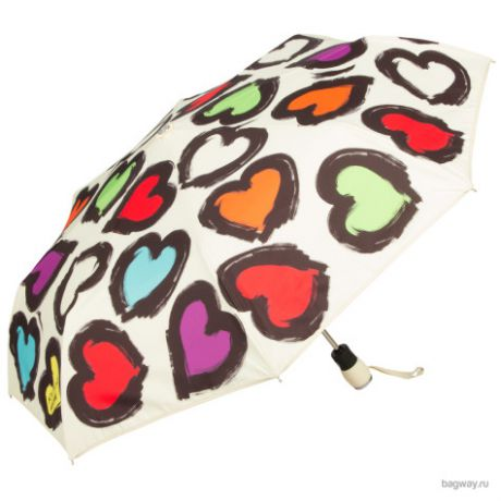 Зонт Moschino Umbrellas 7081 Painted hearts (M 7081-OCI Painted hearts Beige)