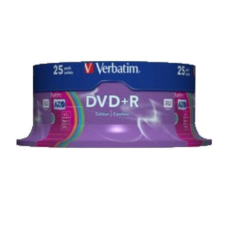 Набор дисков Verbatim DVD+R Colour