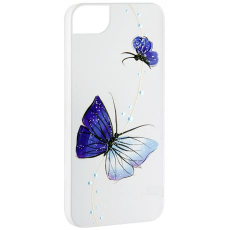 Чехол для iPhone 5/5S/SE Icover Nabi (IP5-HP/W-NB/BL) White/Blue