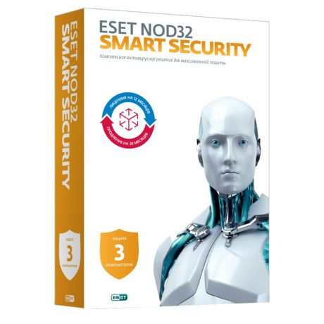 Антивирус ESET NOD32 Smart Security + Bonus, 3 устройства, 1 год