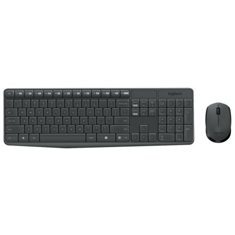 Клавиатура + мышь Logitech MK235 Wireless Desktop Grey
