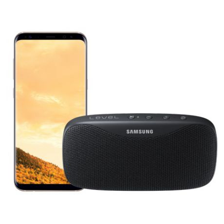 в подарок Samsung Galaxy S8+ 4G 64Gb Gold + Колонка Level Box Slim