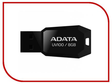 USB Flash Drive 8Gb - A-Data UV100 Classic Black AUV100-8G-RBK