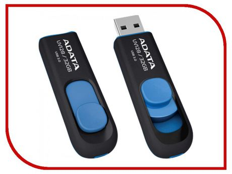 USB Flash Drive 32Gb - A-Data DashDrive UV128 USB 3.0 Blue AUV128-32G-RBE