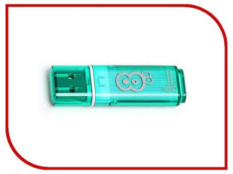 USB Flash Drive 8Gb - Smartbuy Glossy Green SB8GBGS-G