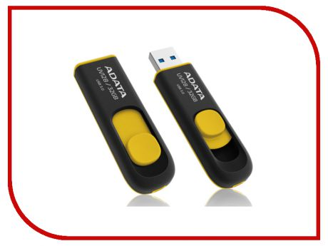 USB Flash Drive 32Gb - A-Data DashDrive UV128 USB 3.0 Yellow AUV128-32G-RBY