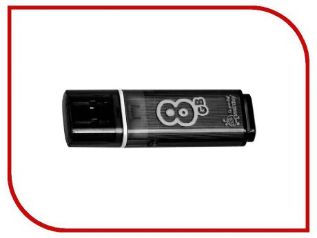 USB Flash Drive 8Gb - Smartbuy Glossy Black SB8GBGS-K