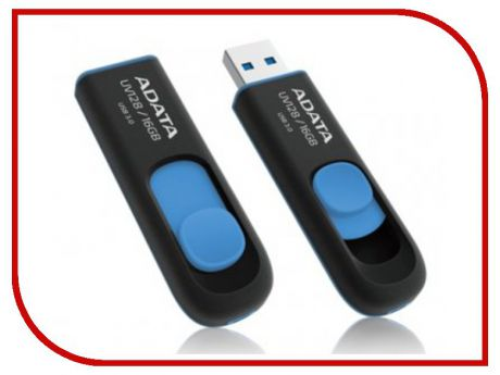 USB Flash Drive 16Gb - A-Data DashDrive UV128 USB 3.0 AUV128-16G-RBE
