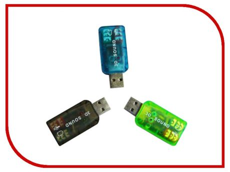 Звуковая карта ATcom USB-sound Card 5.1 3D Sound AT7807
