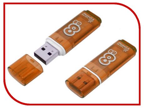 USB Flash Drive 8Gb - SmartBuy Glossy Orange SB8GBGS-Or