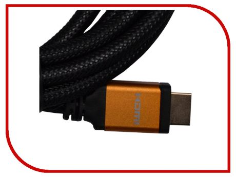 Аксессуар ATcom HDMI 1m Metal Gold АТ13780